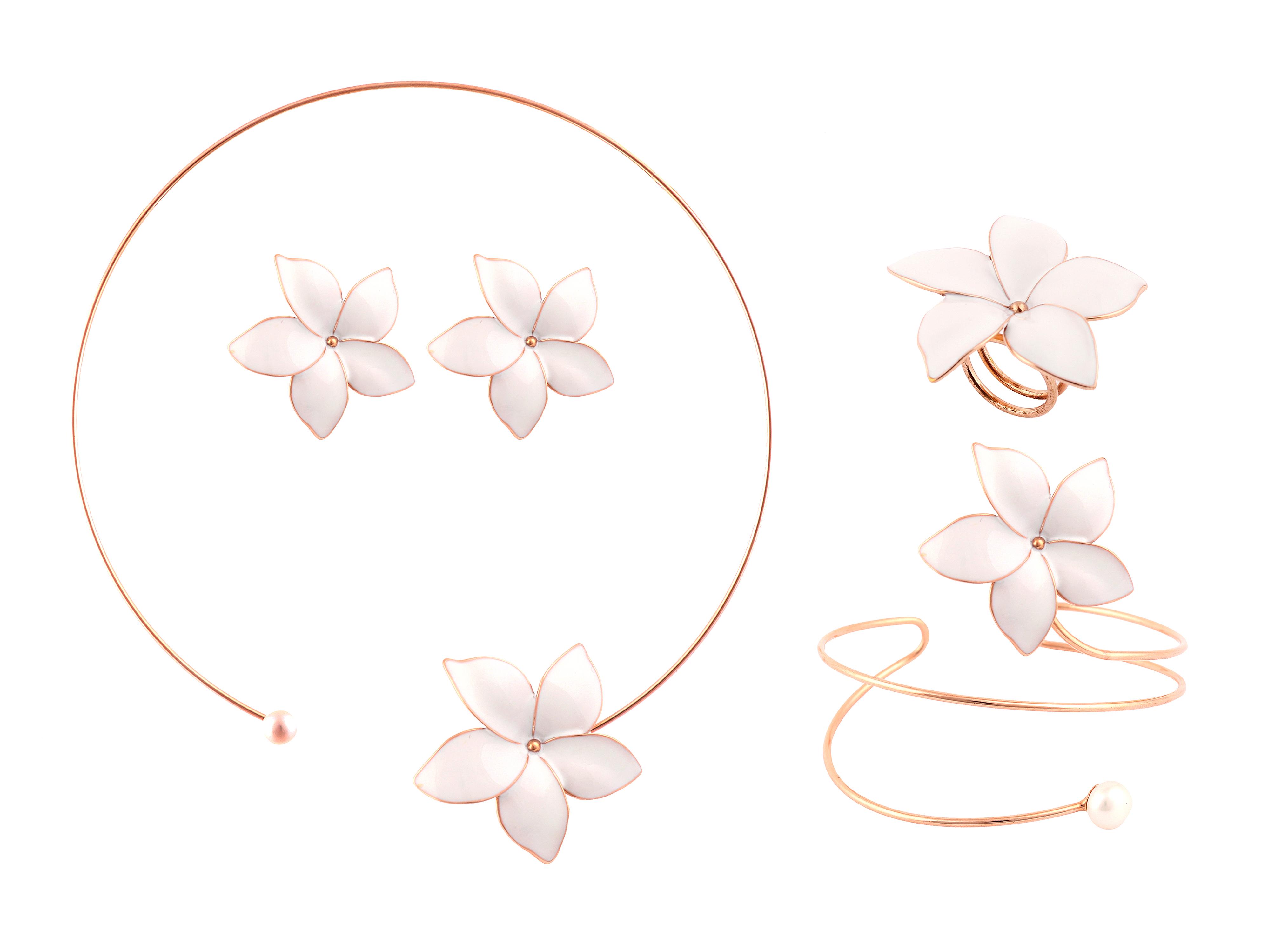 8cc5750019 STERLING SILVER FLOWER DESIGN CHOKER SET – Donna Tyler